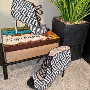 Zigi Soho Black/White Size 11 Women Heel